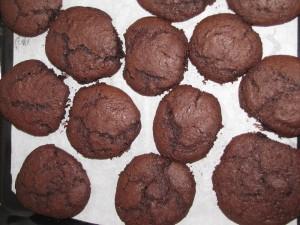 Cookies au chocolat, sortie du four