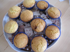 Muffins nougat cranberries