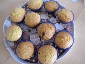 Muffins nougat cranberries