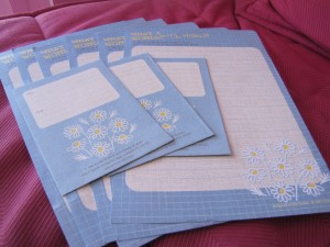 Anyday Lovely papier à lettres bleu