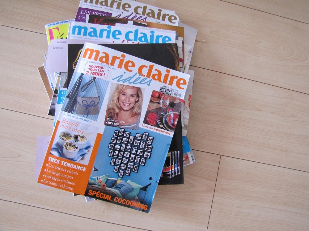 pile de magazines journée découpage marie-claire idées