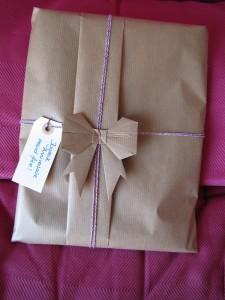 paquet cadeau papier kraft