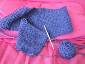 écharpe en crochet