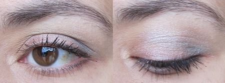 maquillage rose et gris