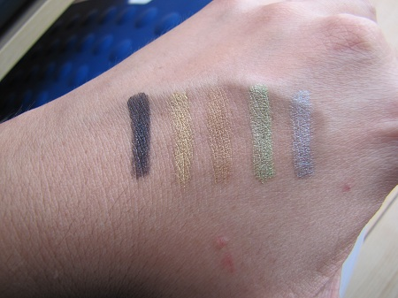 swatches fards shiseido mbdf