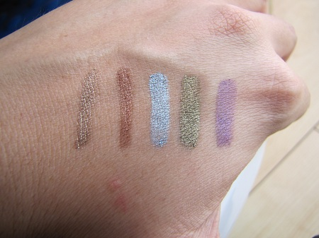 swatches fards shiseido