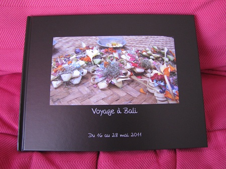 Album photo de Bali, couverture
