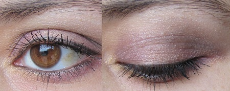 Maquillage violet et doré
