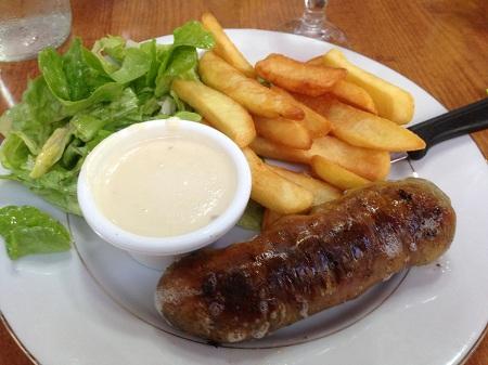 Andouillette 5A sauce chaource (excellente)