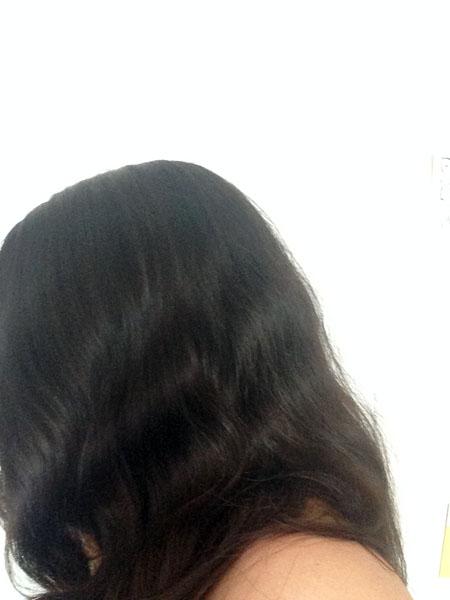 Résultat lavage des cheveux au rhassoul