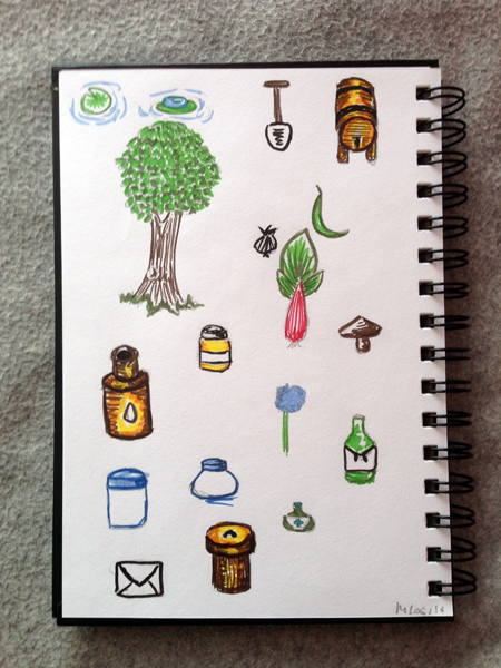 Mnemosune craft day 12 doodles 1