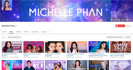 Source : Chaine Youtube de Michelle Phan