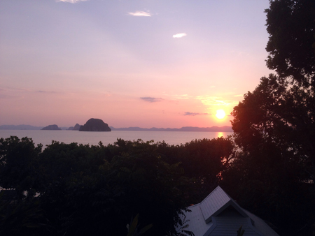 coucher de soleil Krabi Thaïlande massage