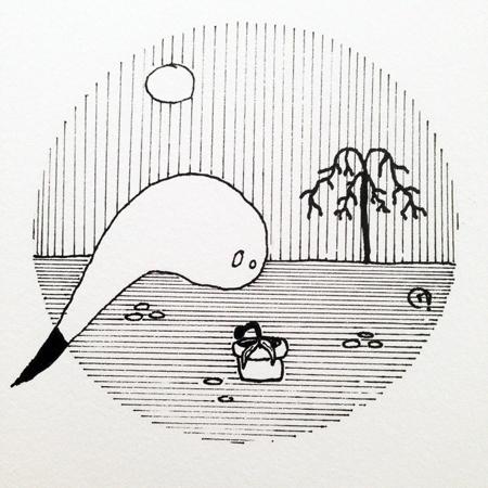 dessin Inktober 2019 fantôme plante