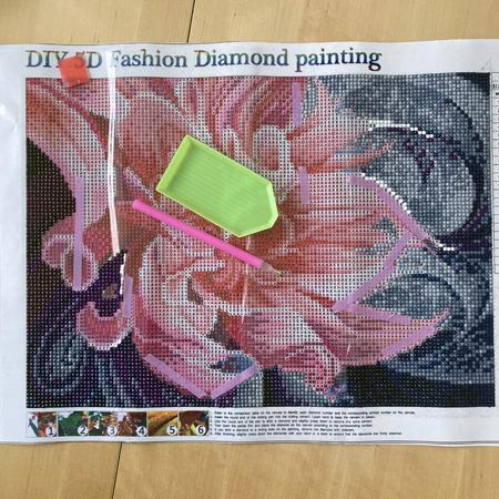 diamond painting fleur